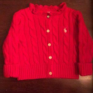 Ralph Lauren Girls 6 Months Red Sweater